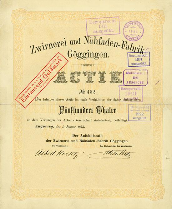 Zwirnerei & Nähfaden-Fabrik Göggingen