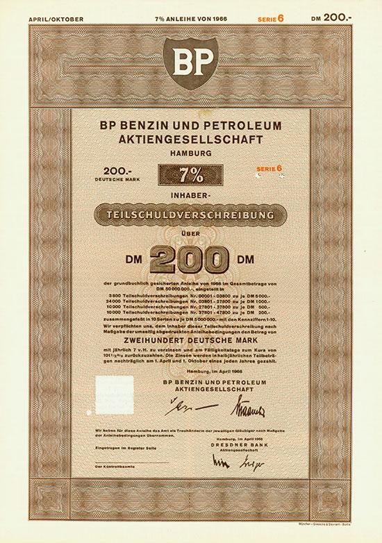 BP Benzin und Petroleum AG [4 Stück]