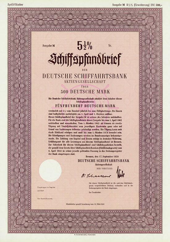 Deutsche Schiffahrtsbank AG [3 Stück]