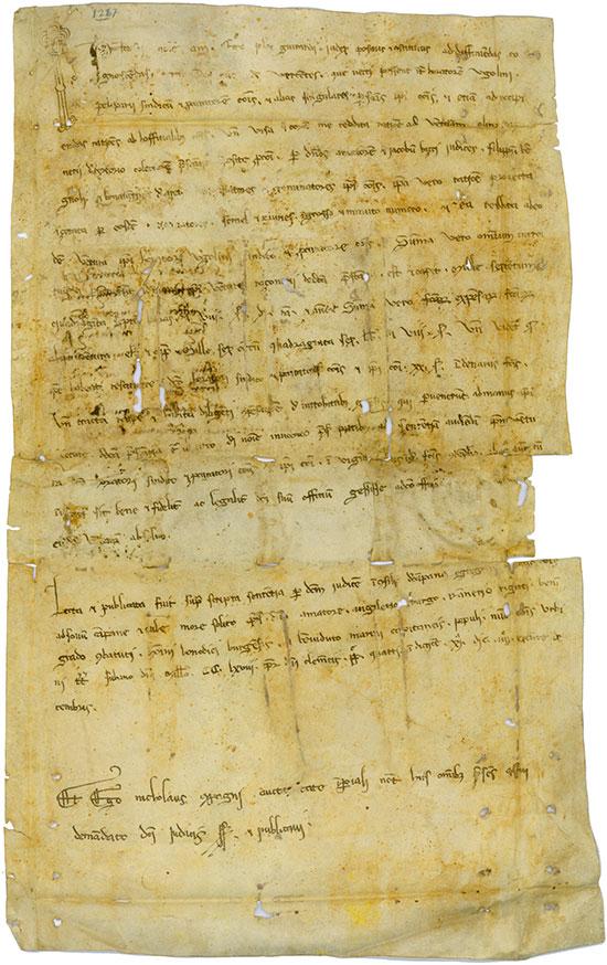 Notariatsurkunde aus Siena