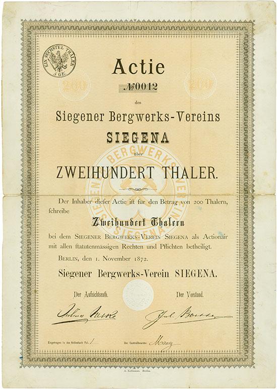 Siegener Bergwerks-Verein SIEGENA