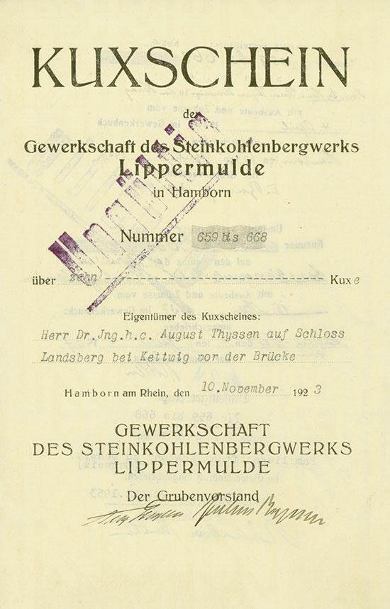 Gewerkschaft des Steinkohlenbergwerks Lippermulde