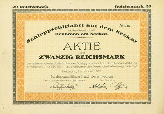 Schleppschiffahrt auf dem Neckar AG
