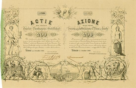 Erste Triester Bierbrauerei-Gesellschaft / Societá per la fabbricazione di Birra in Trieste