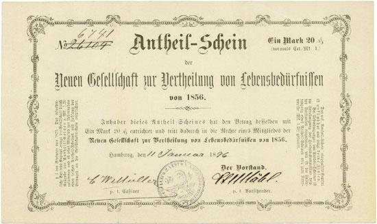 Neue Gesellschaft zur Vertheilung von Lebensbedürfnissen von 1856