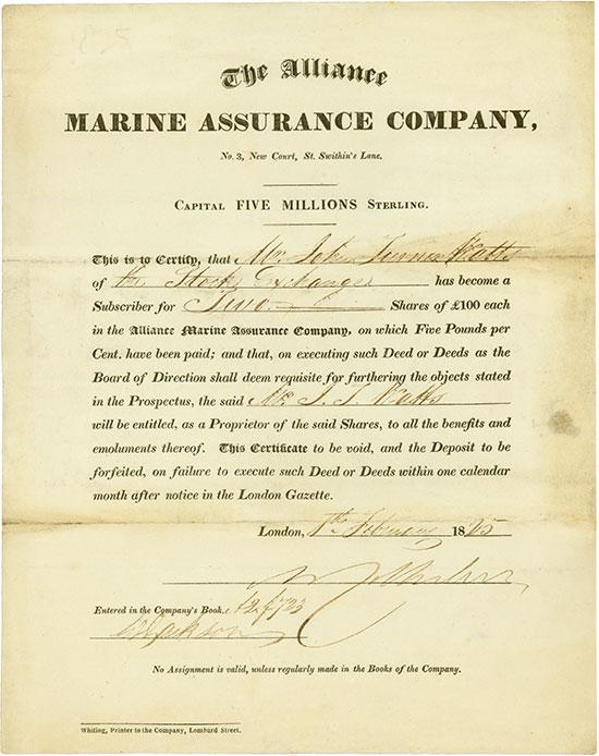Alliance Marine Assurance Company