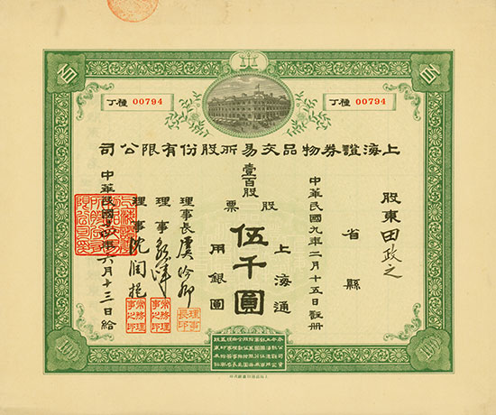 Shanghai Securities and Commodities Exchange Company Limited