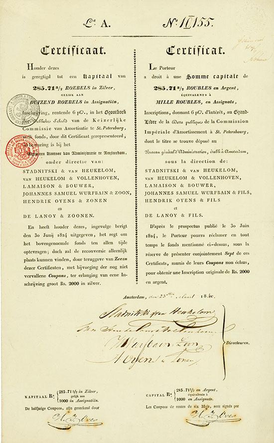 Russische Fondsen [5 Stück]