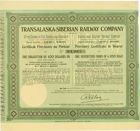 Transalaska-Siberian Railway Company
