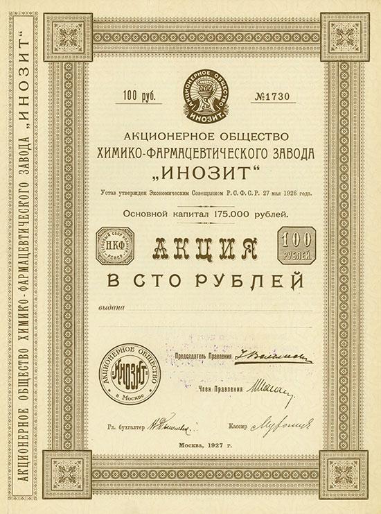Aktiengesellschaft der chemisch-pharmazeutischen Fabrik