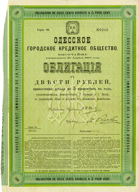 Société du Crédit Immobilier de la Ville d'Odessa