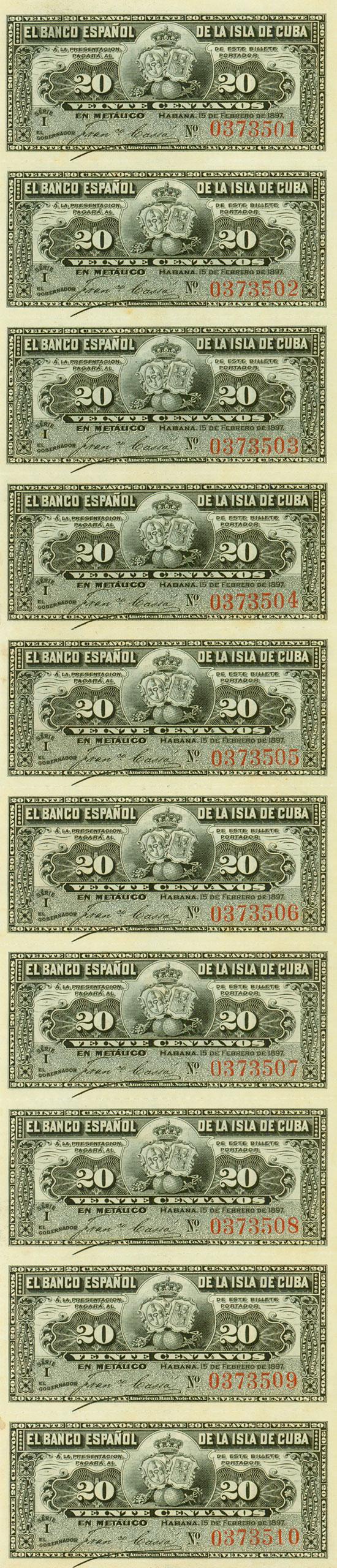 Cuba - El Banco Español de la Isla de Cuba - Pick 53a [10 Stück]