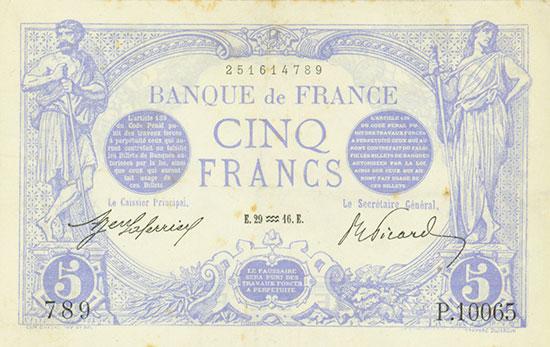 France: Banque de France: Pick 70