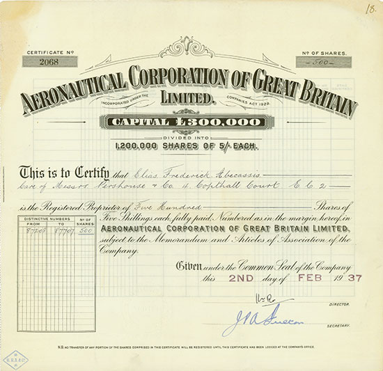 Aeronautical Corporation of Great Britain Limited