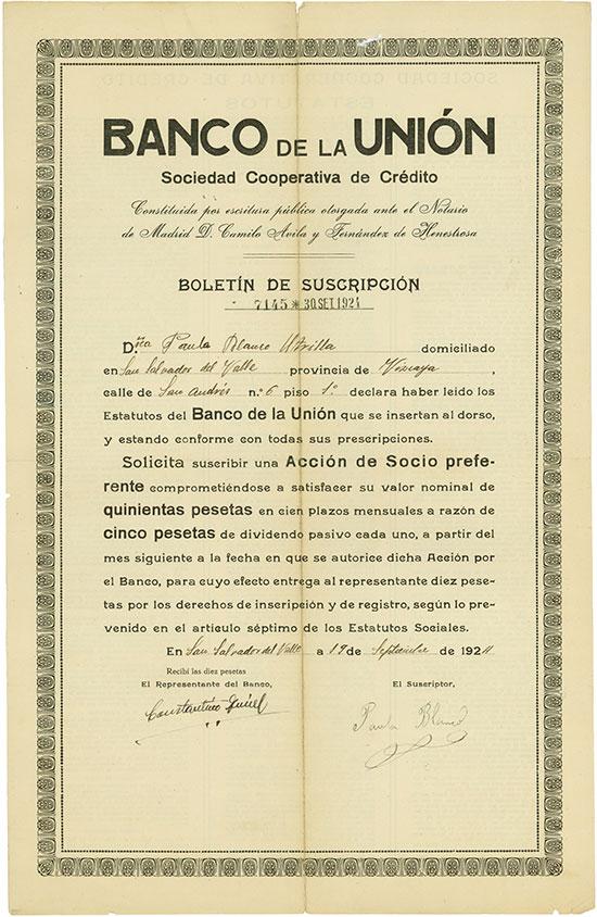 Banco de la Unión Sociedad Cooperativa de Crédito