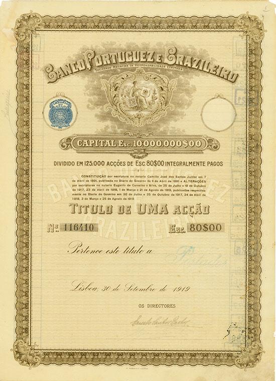 Banco Portuguez e Brazileiro Sociedade Anonima