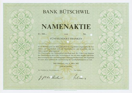Bank Bütschwil