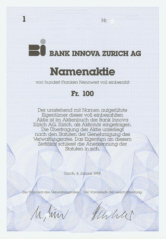 Bank Innova Zurich AG