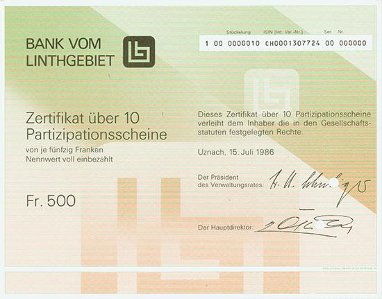 Bank vom Linthgebiet
