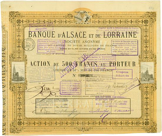 Banque d'Alsace et de Lorraine Société Anonyme (Bank von Elsaß und Lothringen AG)