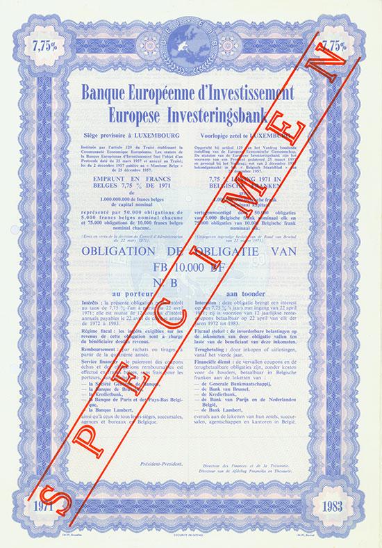 Banque Européenne d'Investissement [4 Stück]