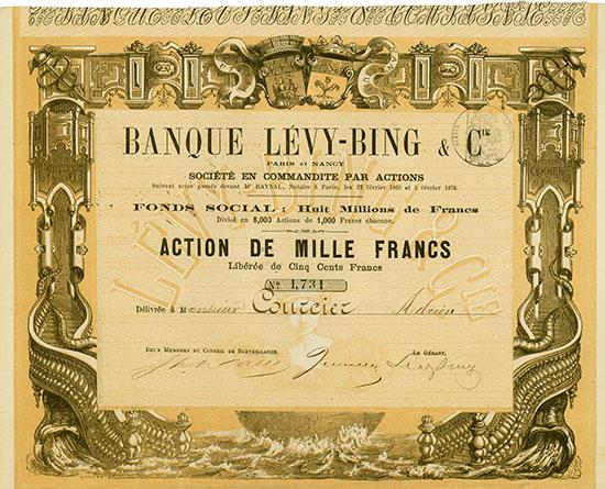 Banque Lévy-Bing & Cie. Paris et Nancy