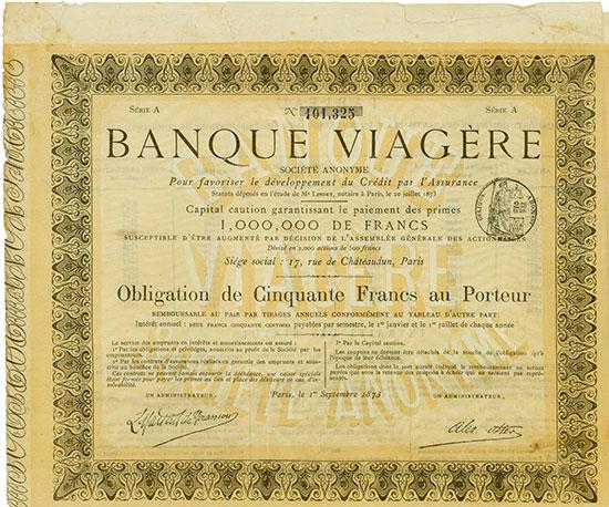 Banque Viagère Société Anonyme Pour favoriser le développement du Crédit par l'Assurance