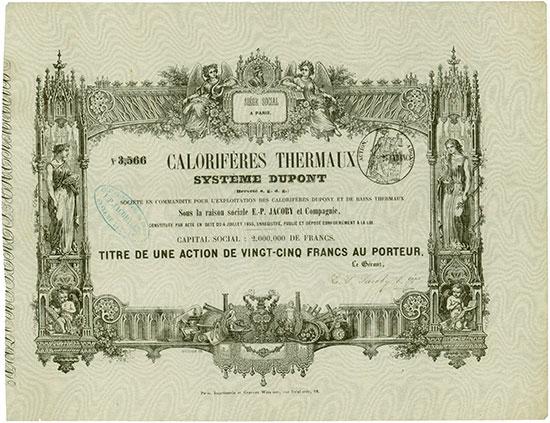 Calorifères Thermaux Système Dupont (Breveté s. g. d. g.)