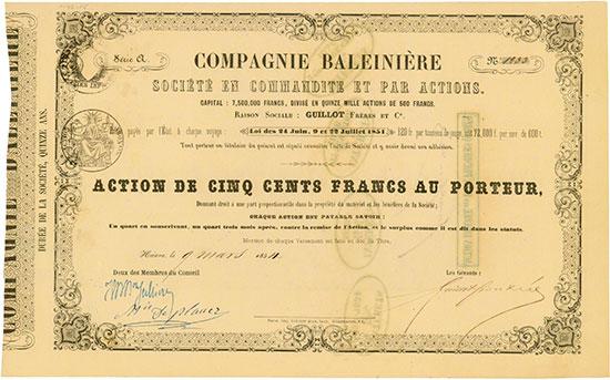 Compagnie Baleinière Société en Commandite et par Actions