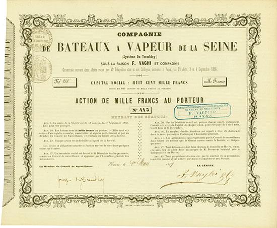 Compagnie de Bateaux a Vapeur de la Seine (Système Du Trembley)