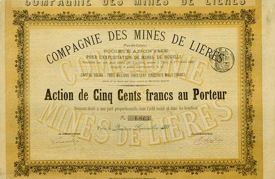 Compagnie des Mines de Lièrès (Pas-de-Calais) Société Anonyme