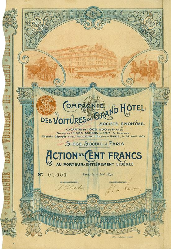 Compagnie des Voitures du Grand Hotel Société Anonyme