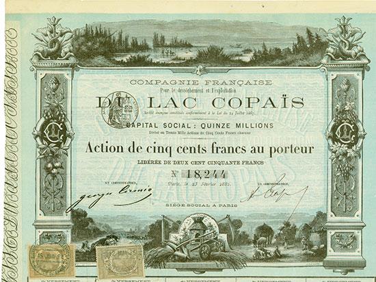 Compagnie Française Pour le desséchement et l'exploitation Du Lac Copaïs