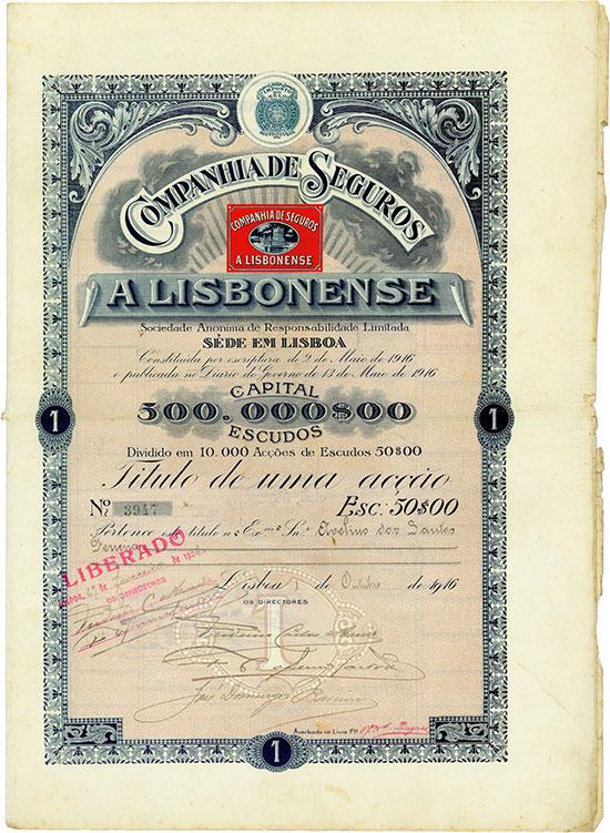 Companhia de Seguros, a Lisbonense