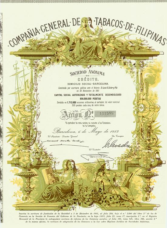 Compañia General de Tabacos de Filipinas [2 Stück]