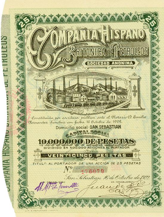 Compañia Hispano Britanica de Petroleos S.A.