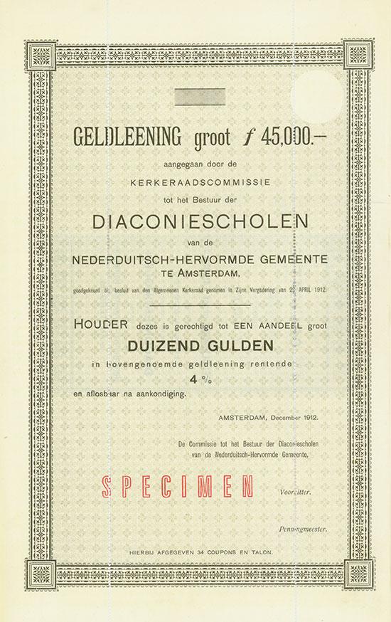 Diaconiescholen van de Nederduitsch-Hervormde Gemeente te Amsterdam