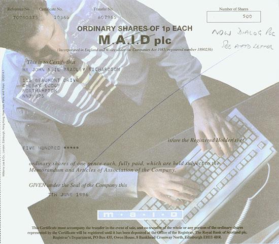 Dialog plc (M.A.I.D plc)