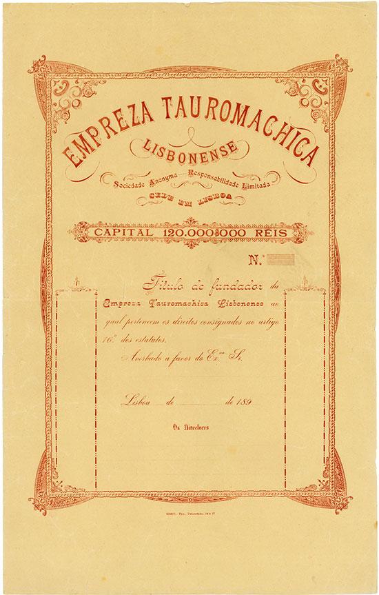 Empresa Tauromachica Lisbonense Sociedade anonyma de Responsabilidade Limitada