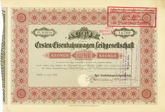 Erste Eisenbahnwagen-Leihgesellschaft