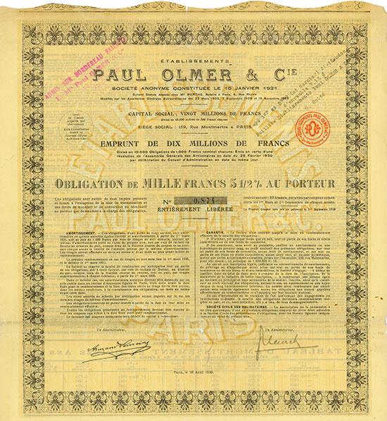 Etablissements Paul Olmer & Cie.