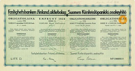 Fastighetsbanken i Finland, aktiebolag / Suomen Kiinteistöpankki, osakeyhtiö