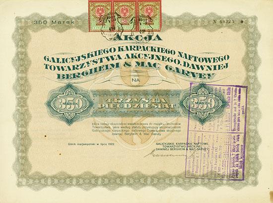 Galizische Karpathen-Petroleum-Aktiengesellschaft vormals Bergheim & Mac Garvey