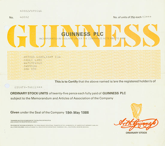 Guiness PLC