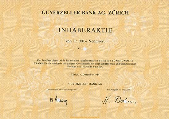 Guyerzeller Bank AG