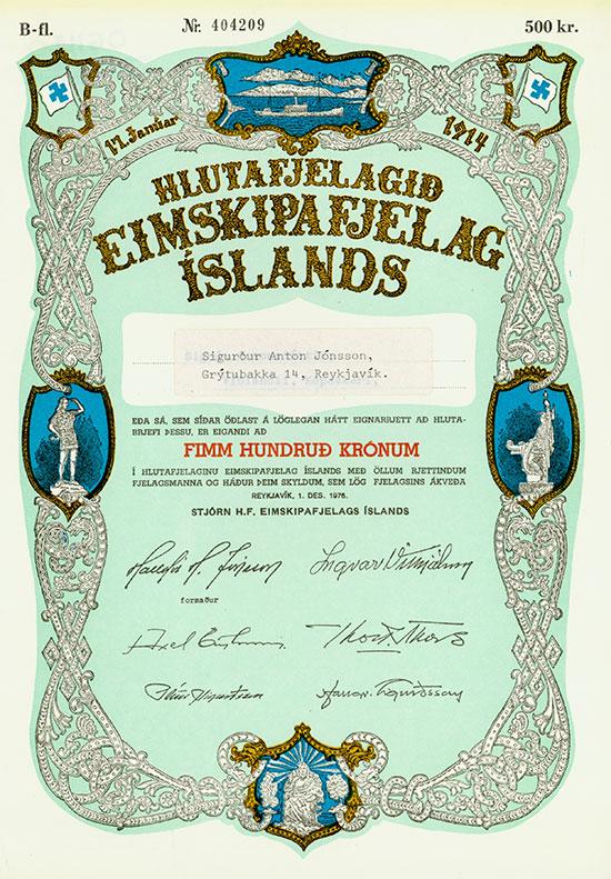 Hlutafjelagid Eimskipafjelag Islands
