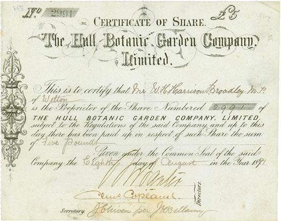 Hull Botanic Garden Company, Limited