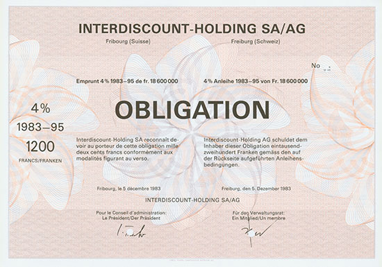 Interdiscount-Holding SA/AG [2 Stück]
