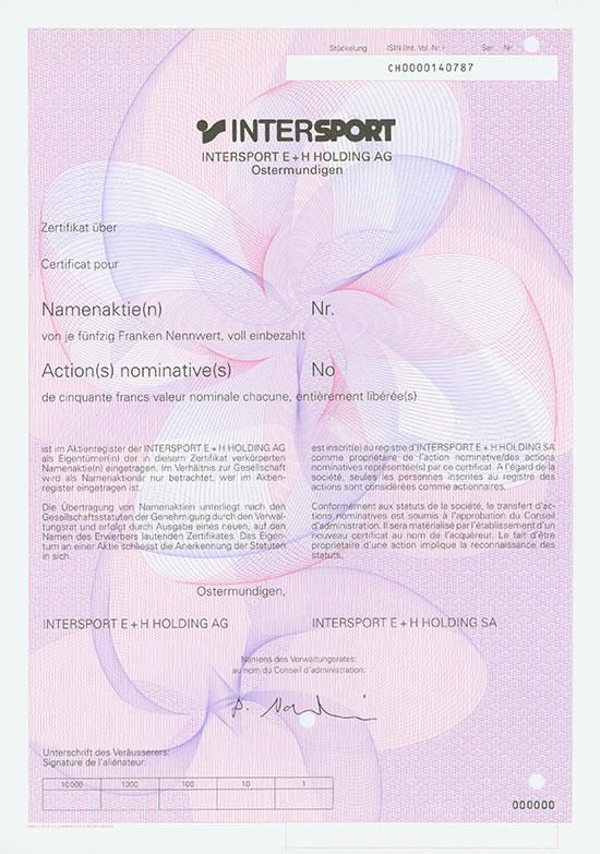 Intersport E + H Holding AG