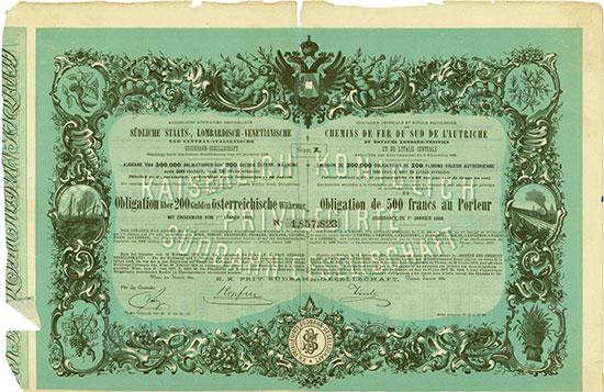 Kaiserliche königliche privilegirte südliche Staats-, Lombardisch-Venetianische und Central-Italienische Eisenbahn-Gesellschaft